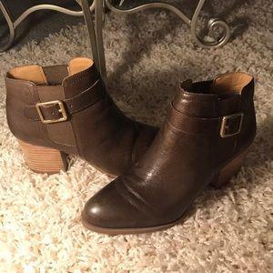 Franco Sarto dark brown booties